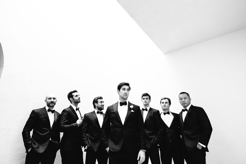 Best dramatic groomsmen photo at a Hotel Bel-Air wedding