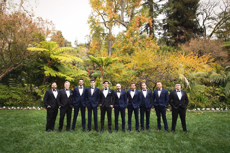 Groomsmen on the lawn at a Hotel Bel-Air wedding