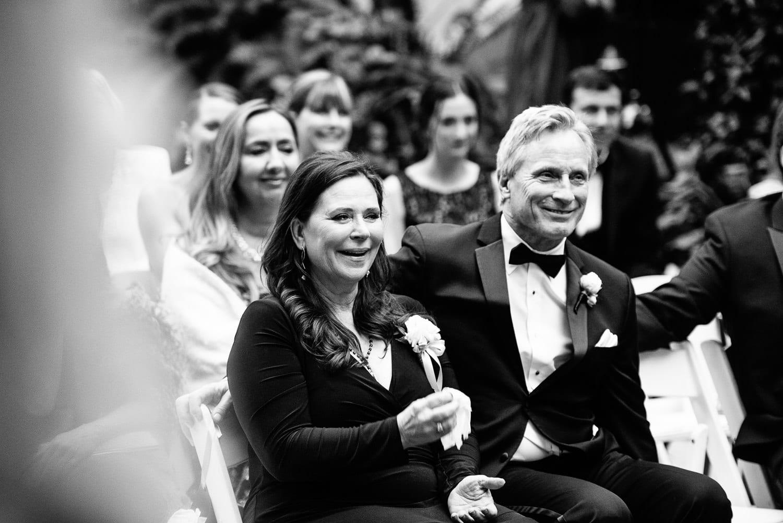 Emotional parents at a Hotel Bel-Air wedding