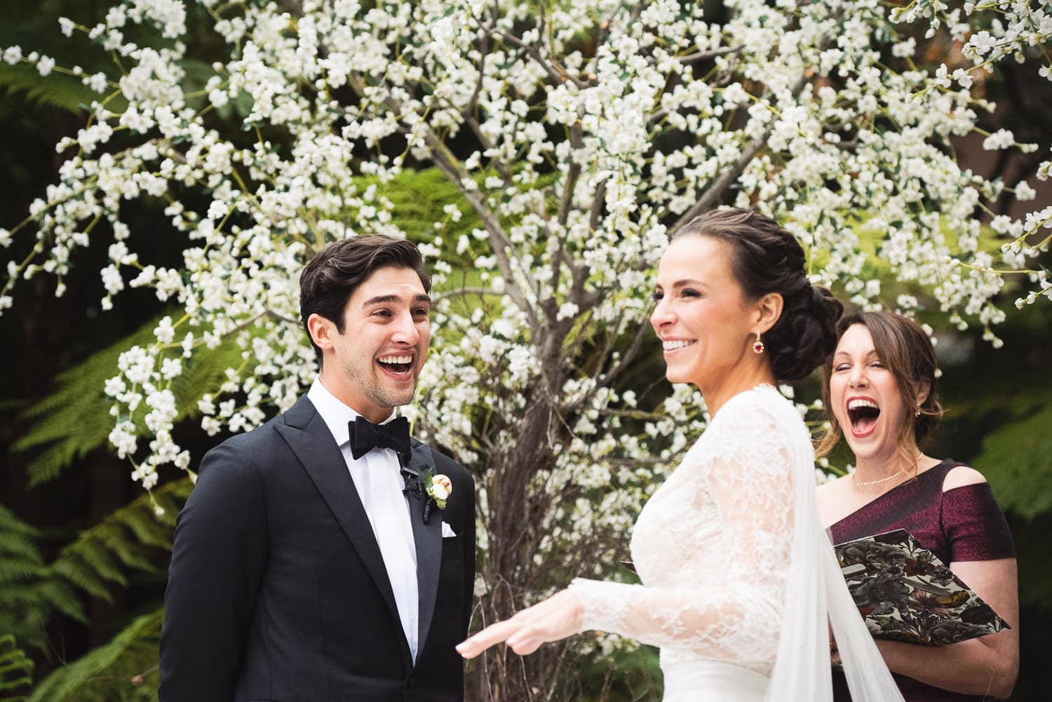Funny Bride and Groom moment during Hotel Bel-Air wedding
