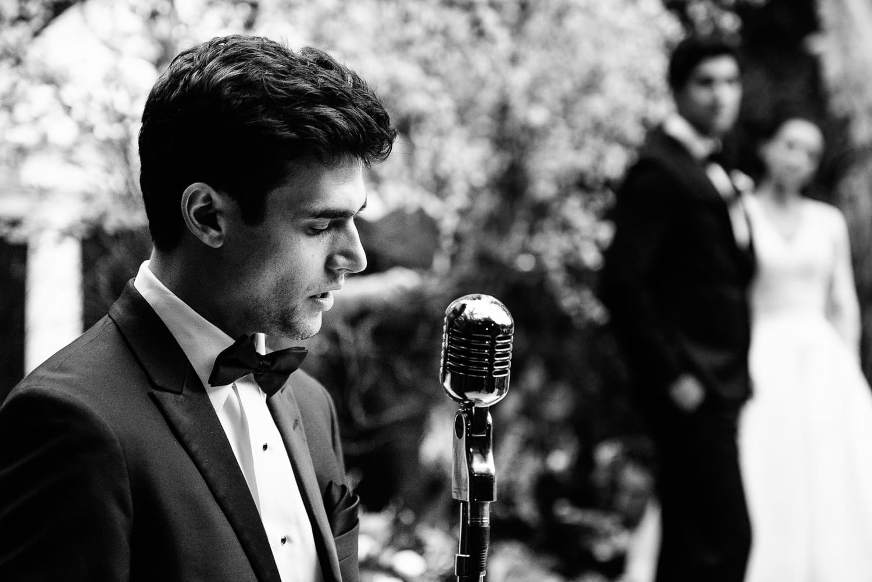 Man singing at Hotel Bel-Air wedding