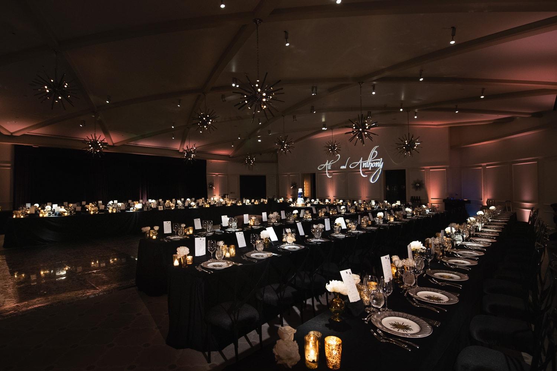 Hotel Bel-Air wedding reception decor designed by Simply Troy