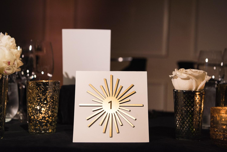Retro Hotel Bel-Air wedding reception decor designed by Simply Troy