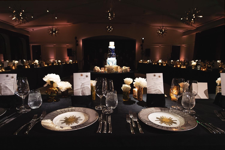 Hotel Bel-Air wedding reception decor