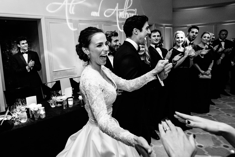 Hotel Bel-Air grand entrance at wedding reception