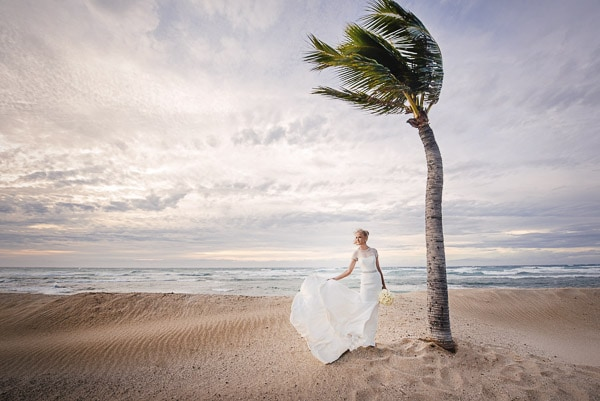 FOUR SEASONS HUALALAI WEDDING PHOTO TIPS - The Four Seasons Hualalai is located on one of the most beautiful beaches on the Big Island of Hawaii. Start there, right in front of the Beach Tree Restaurant. There is exposed lava on the beach which is a perfect spot for Just Married shots at sunset. Then head south to the famous wedding tree (pictured to the left). It's at the end of the resort in front of the Resident's Beach House. Make sure you ask staff for a golf cart and they will take you there. If you have the time, explore the surrounding areas. The entire resort is bounded in by some of the most beautiful landscapes of lava and beach that we have ever seen.