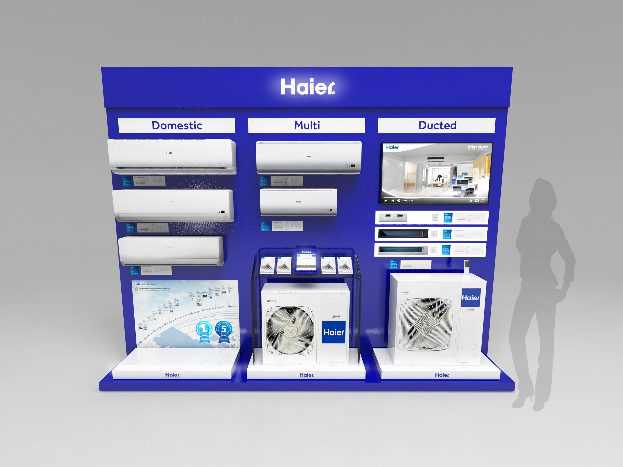HAIER  Over a 2 year period we have now designed and delivered several projects across various product categories for the number one brand of major appliances in the world.  >>  read more