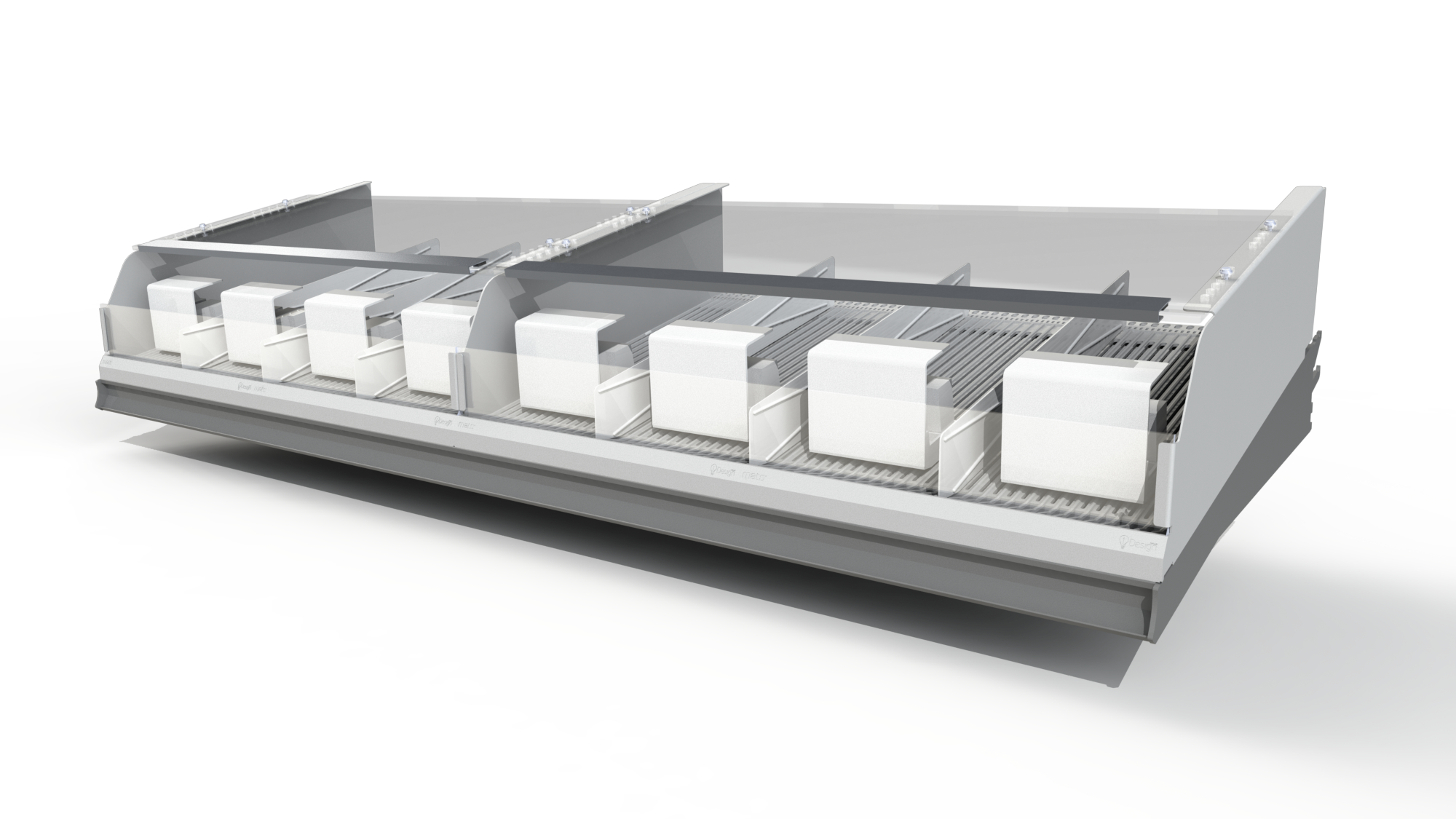 ADJUSTABLE WIDTH  The system is fully modular and comes in widths of 1, 2, 3 and 4 foot wide. Custom widths are possible on request.