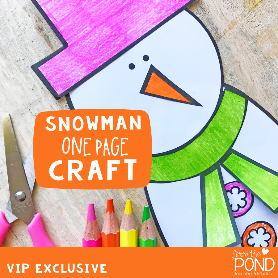 Snowman One Page Craft