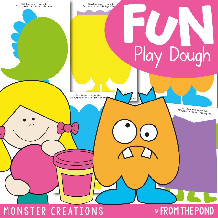 Monster Creations Play Dough Mats