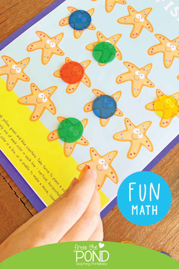 Starfish 4 one page math game