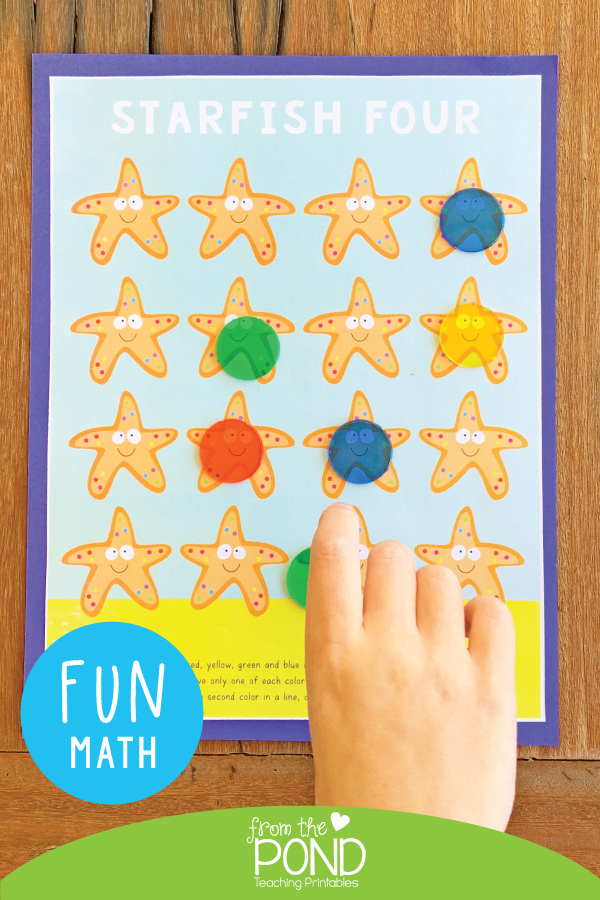 Print just one page and team with counters for a fun mathematical thinking game!