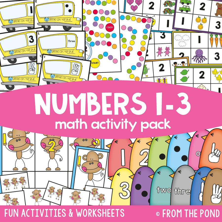 Math Pack 1 - Numbers 1 to 3