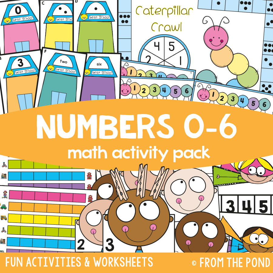 Math Pack 2 - Numbers 0 to 6