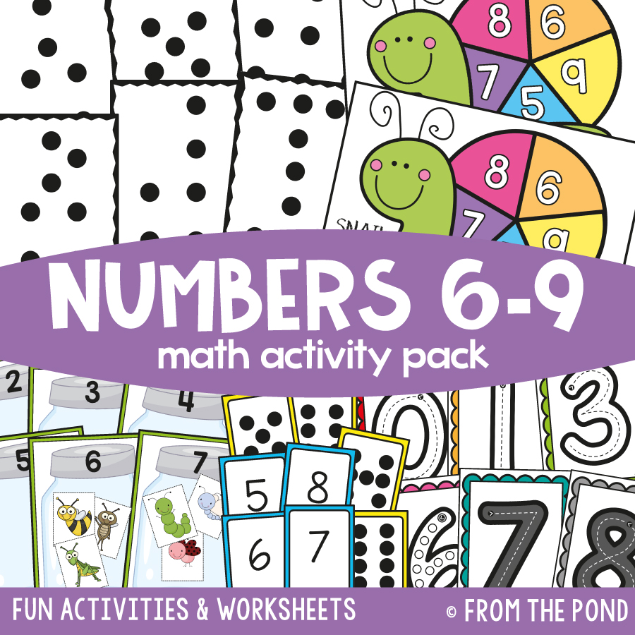 Math Pack 5 - Numbers Six to Nine