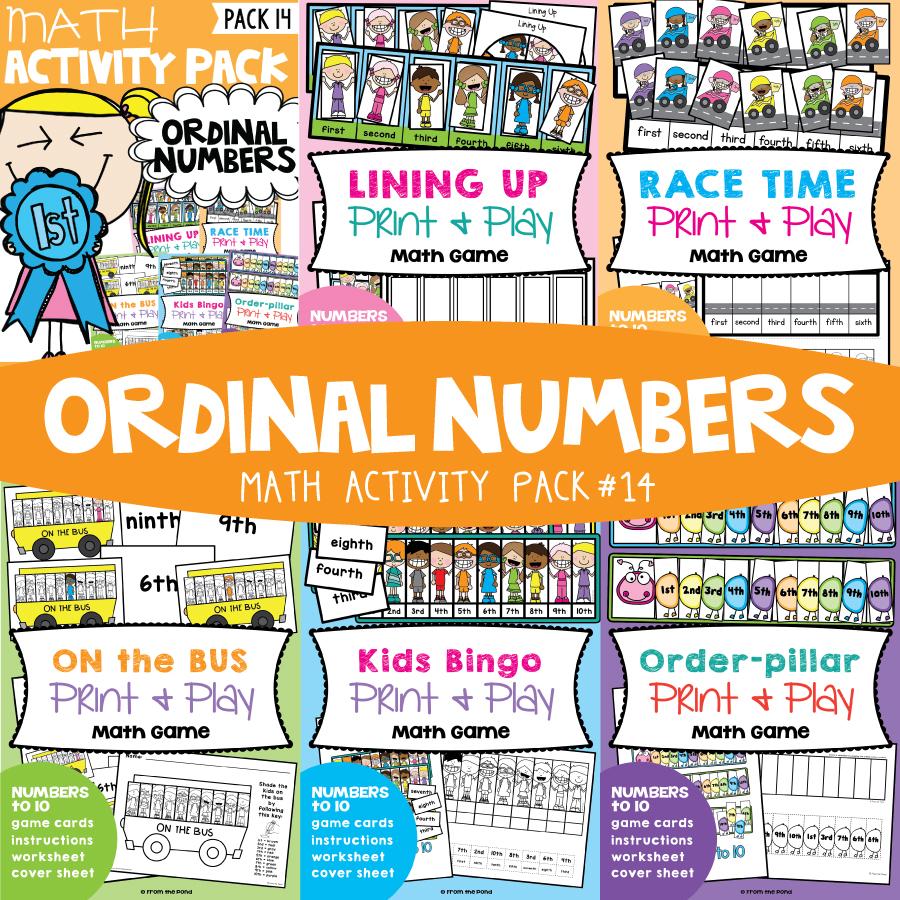 Math Pack 14 - Ordinal Numbers