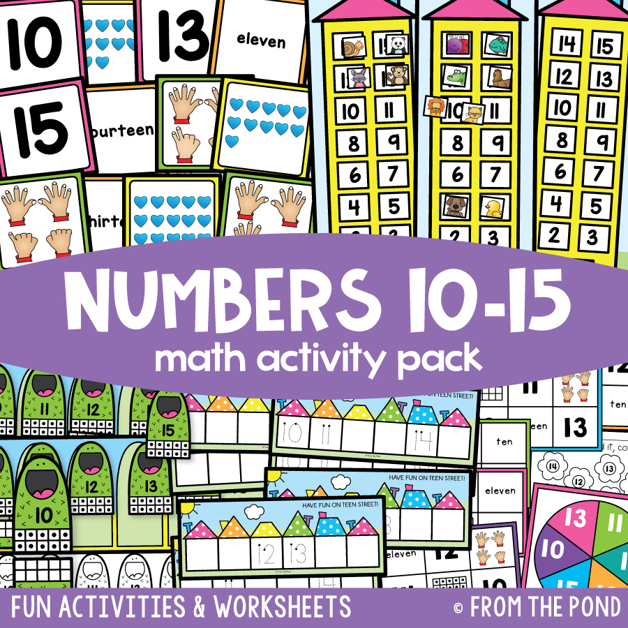 Math Pack 17 - Numbers 10 to 15
