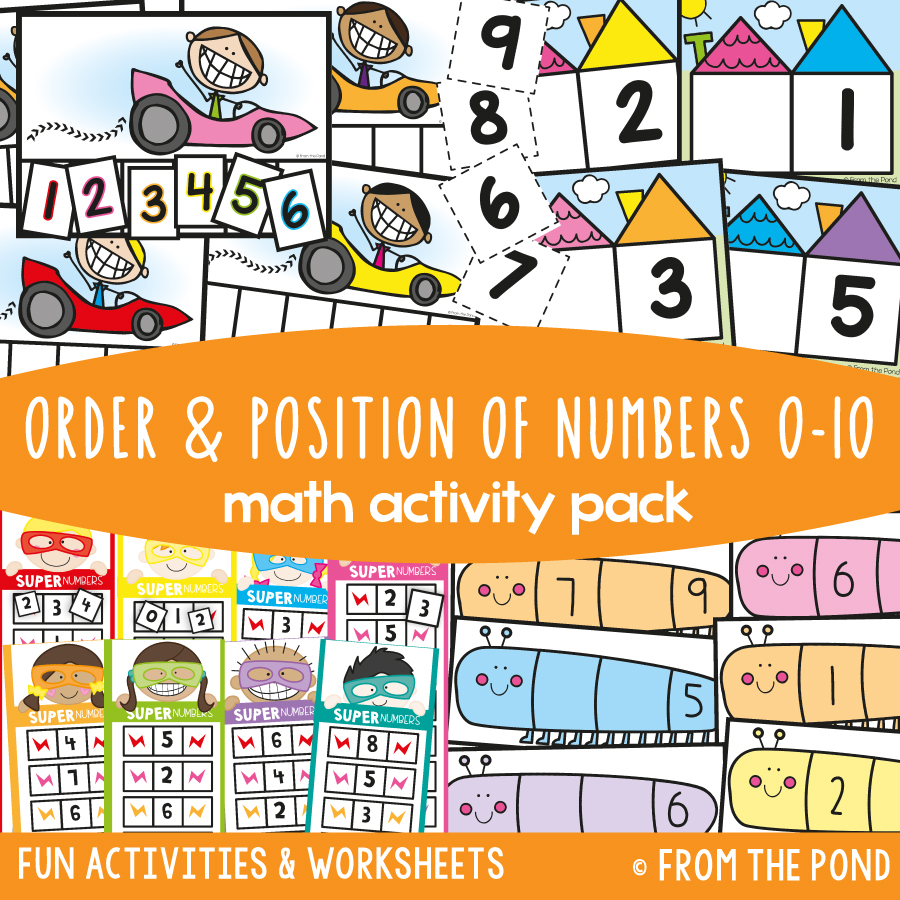 Math Pack 7 - Order and Position of Numbers 0 to 10