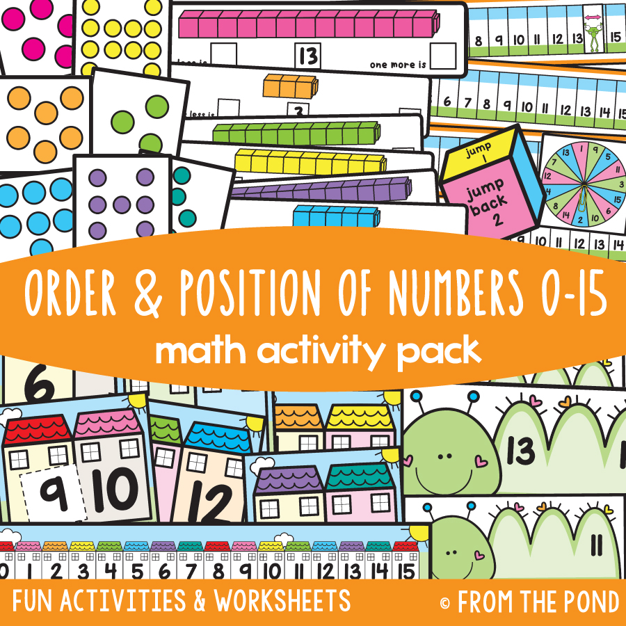 Math Pack 19 - Order & Position of Numbers 0-15