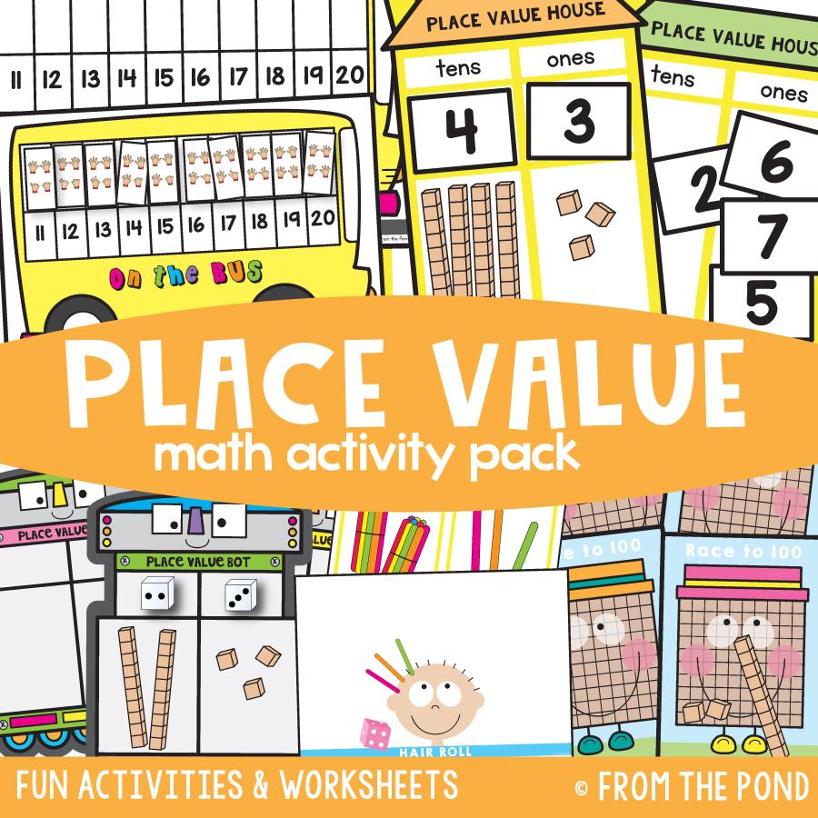 Math Pack 25 - 2 Digit Place Value