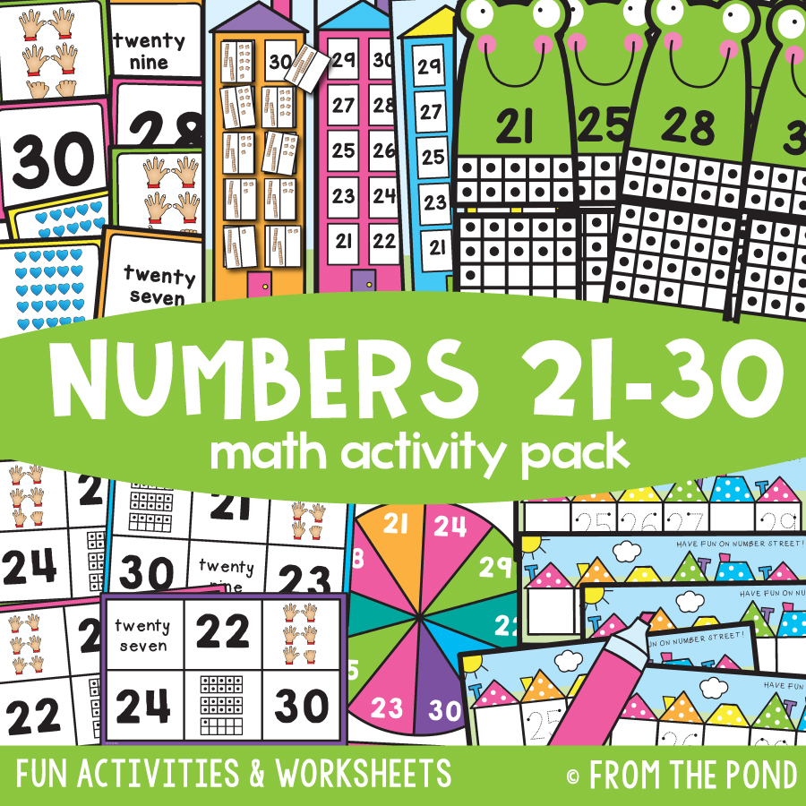 Math Pack 26 - Numbers 21 to 30