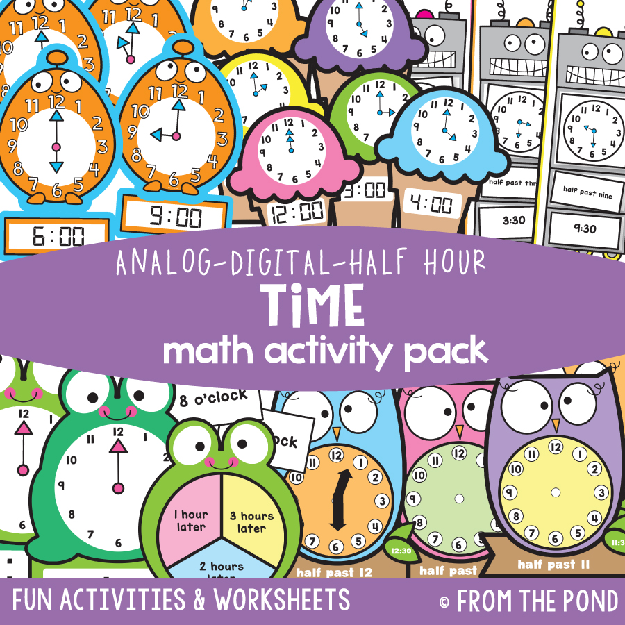 Math Pack 28 - Time to Half Hour