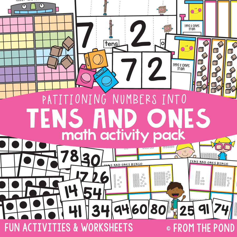 Math Pack 29 - Partitioning Tens and Ones