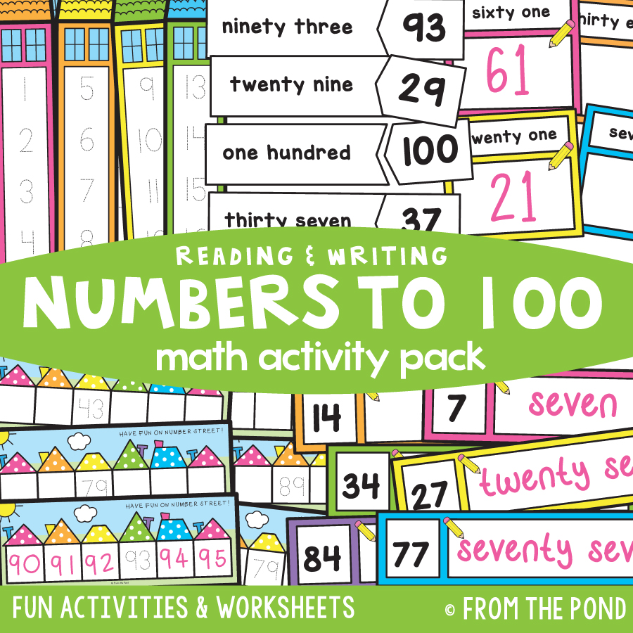 Math Pack 31 - Reading and Writing Numbers to 100