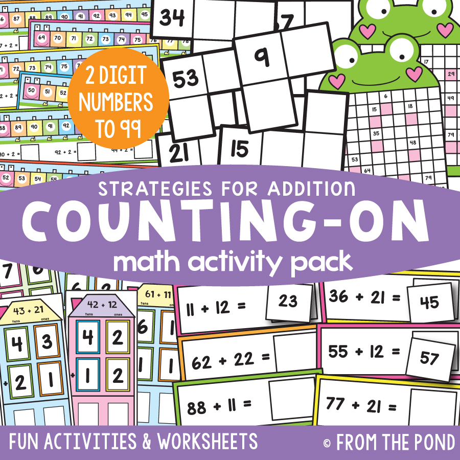 Math Pack 33 - Counting on with 2 Digit Numbers