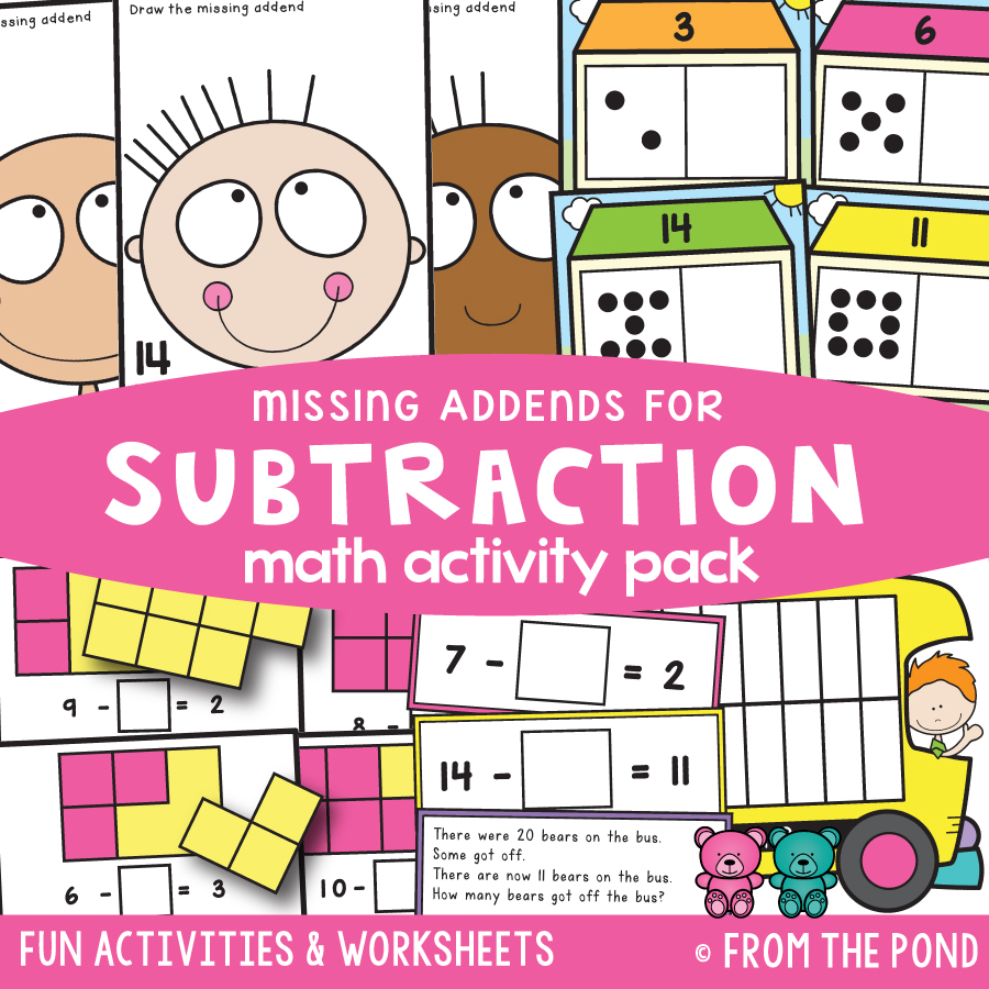 Math Pack 34 - Subtraction (Missing Addend)