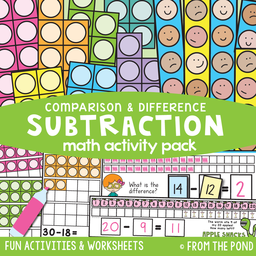 Math Pack 36 - Subtraction (Comparison & Difference)
