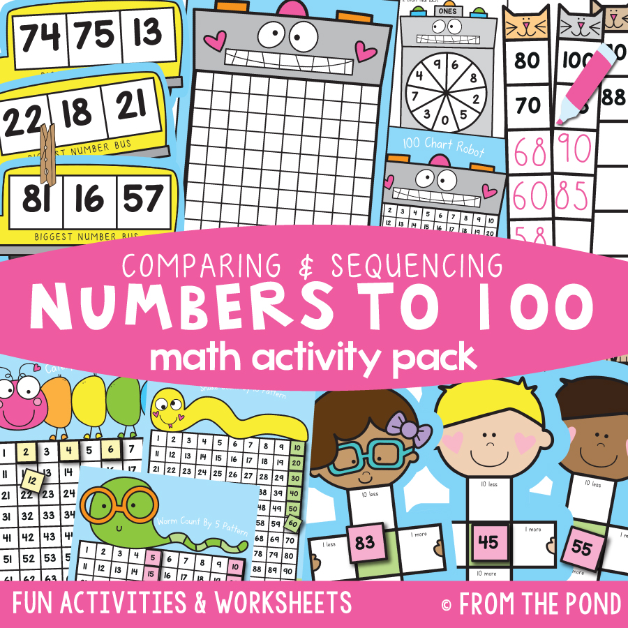 Math Pack 39 - Comparing & Sequencing Numbers to 100