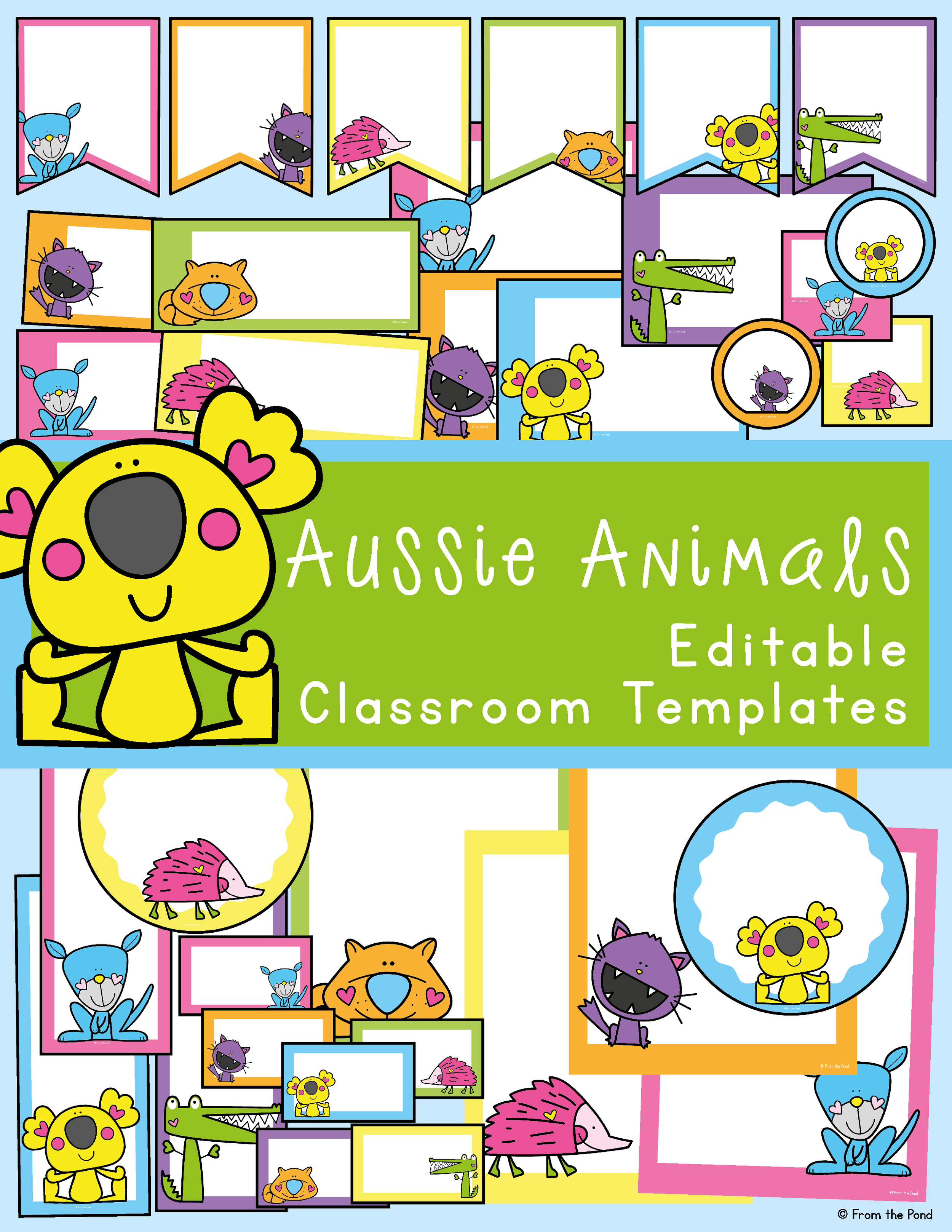 Aussie Animal Classroom Decor