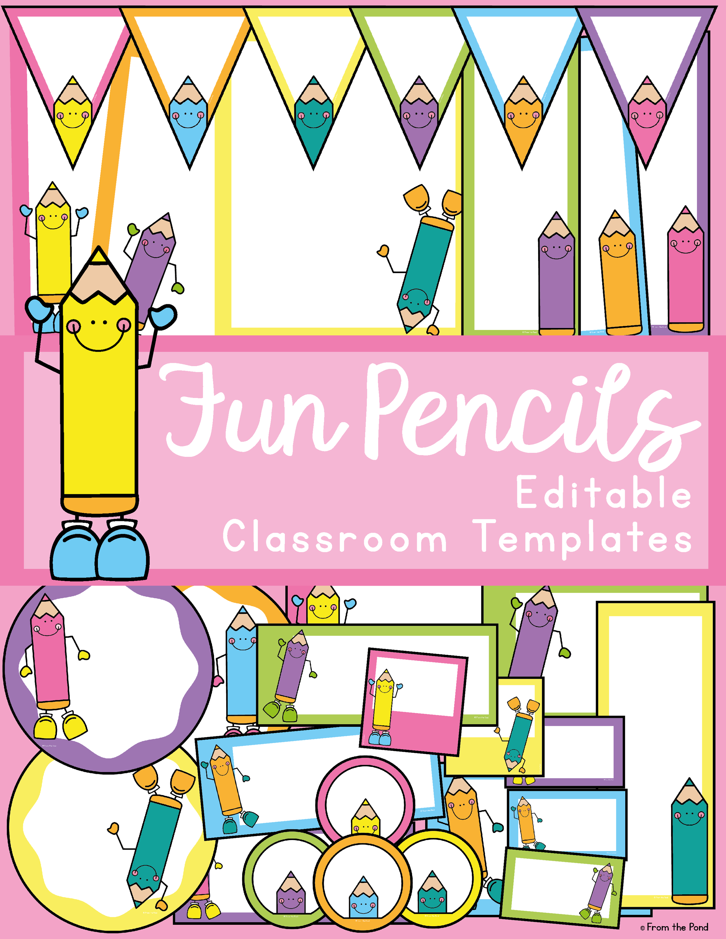 Fun Pencil Classroom Decor