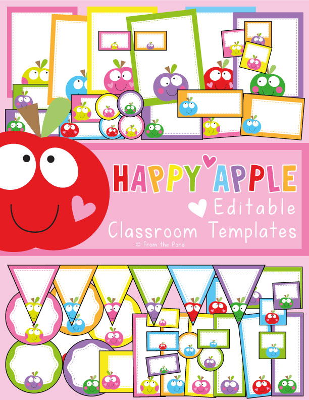Happy Apple Classroom Decor