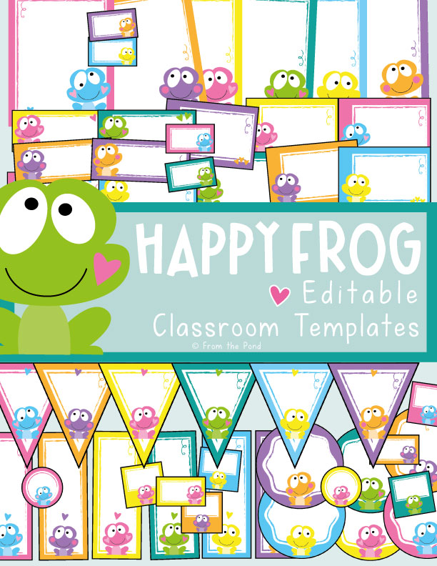 Happy Frog Classroom Decor
