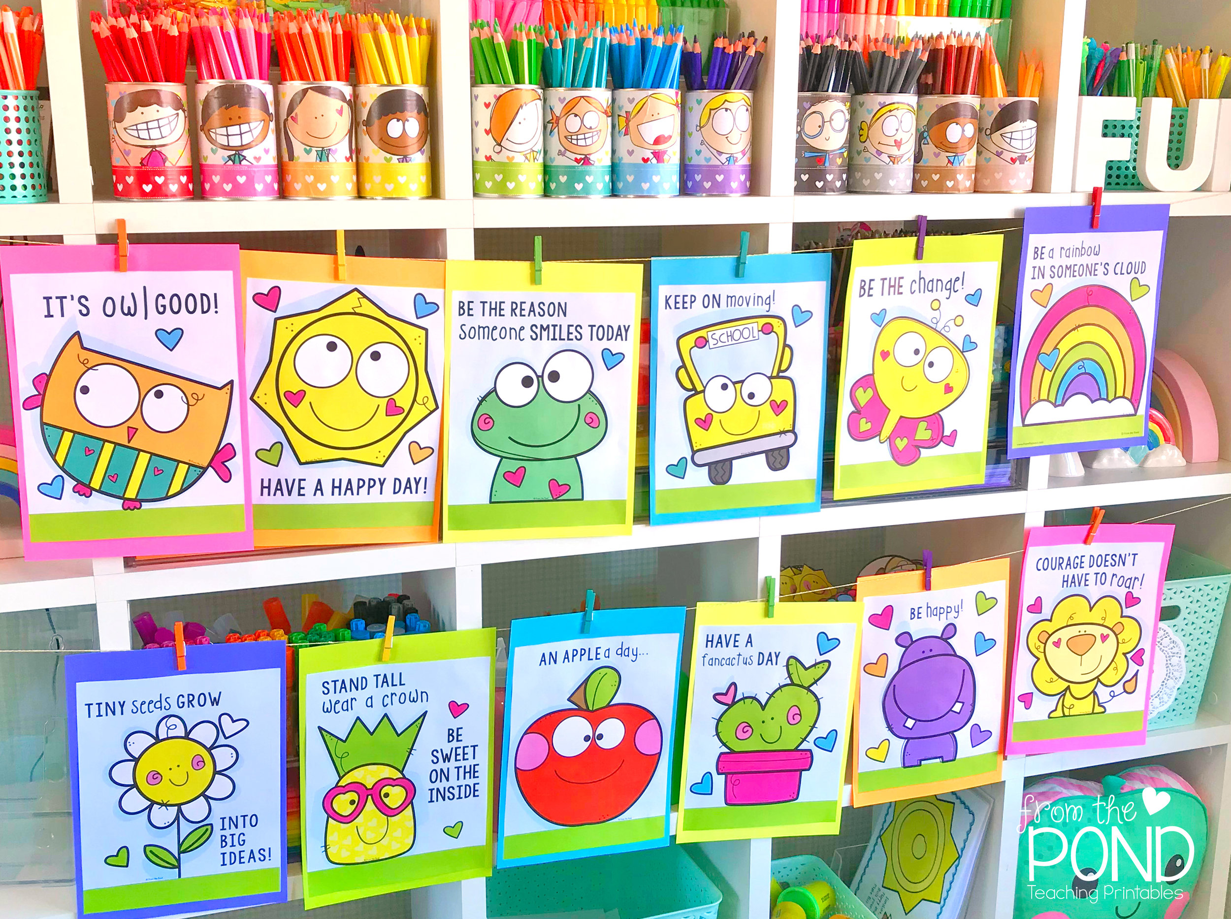 Cute Classroom Posters Set 1   Display them all or one at a time!