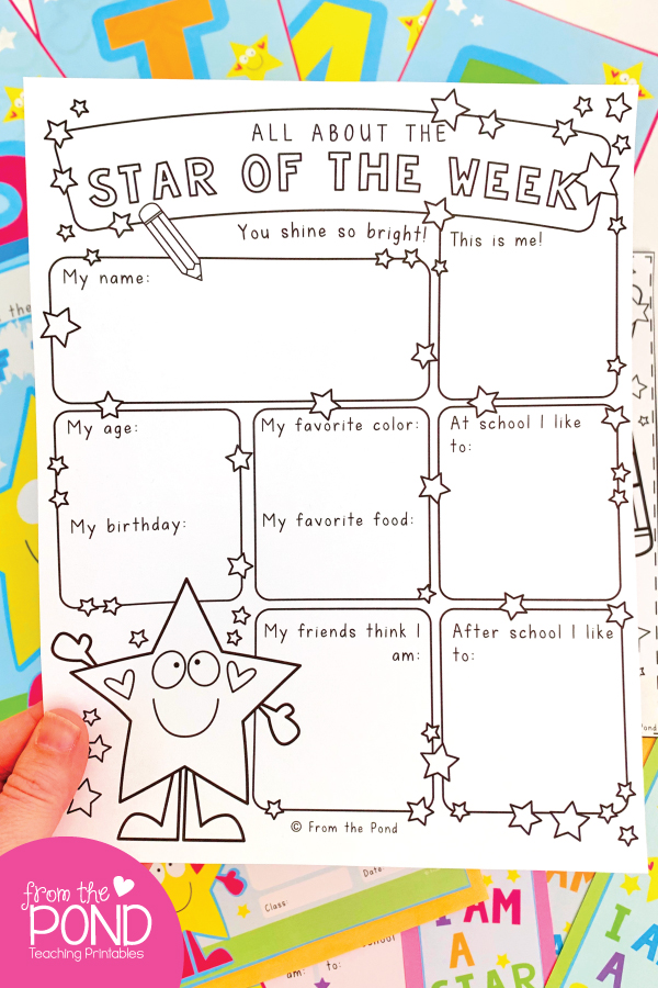 Star of the Week Student Page