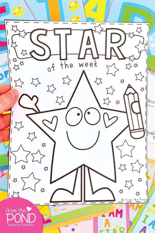 Star of the Week Coloring Page