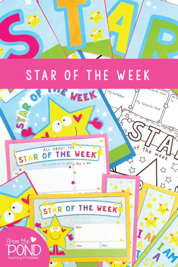 Our  Star of the Week  printable pack includes  Star of the Day  options too!