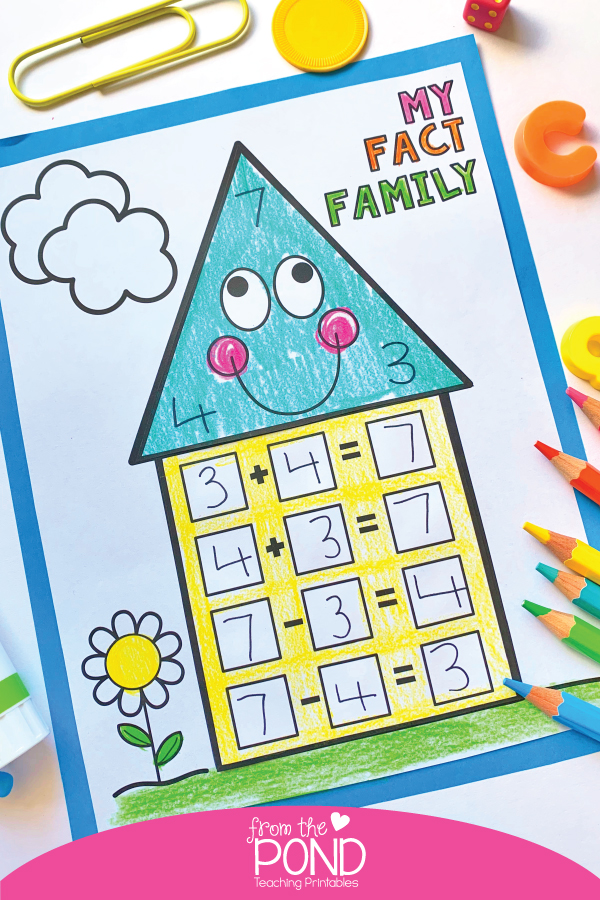 Fact Family Craft - explore relationships in addition and subtraction