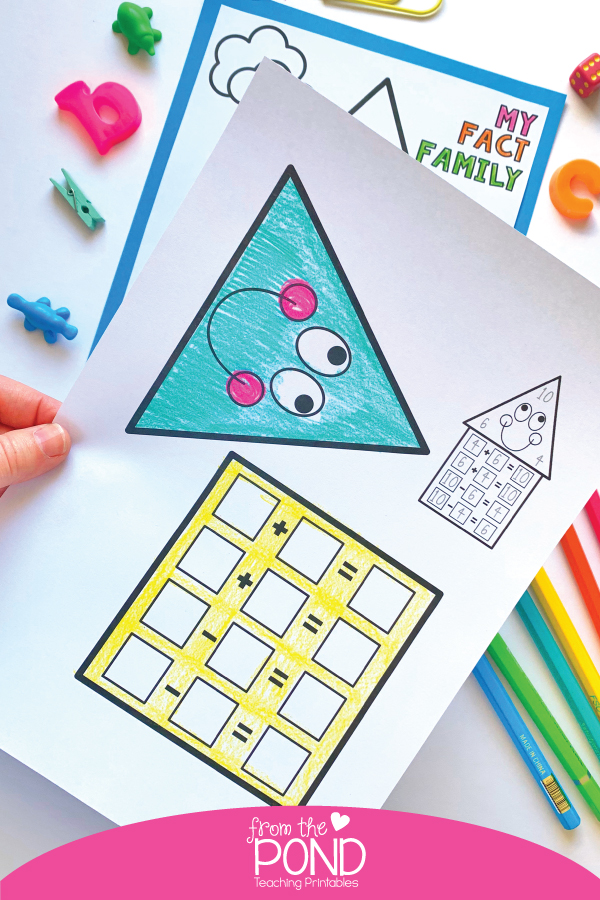 Two big shapes to color and cut - perfect for little learners!