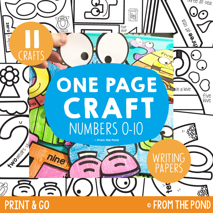 Number Pack - One Page Crafts