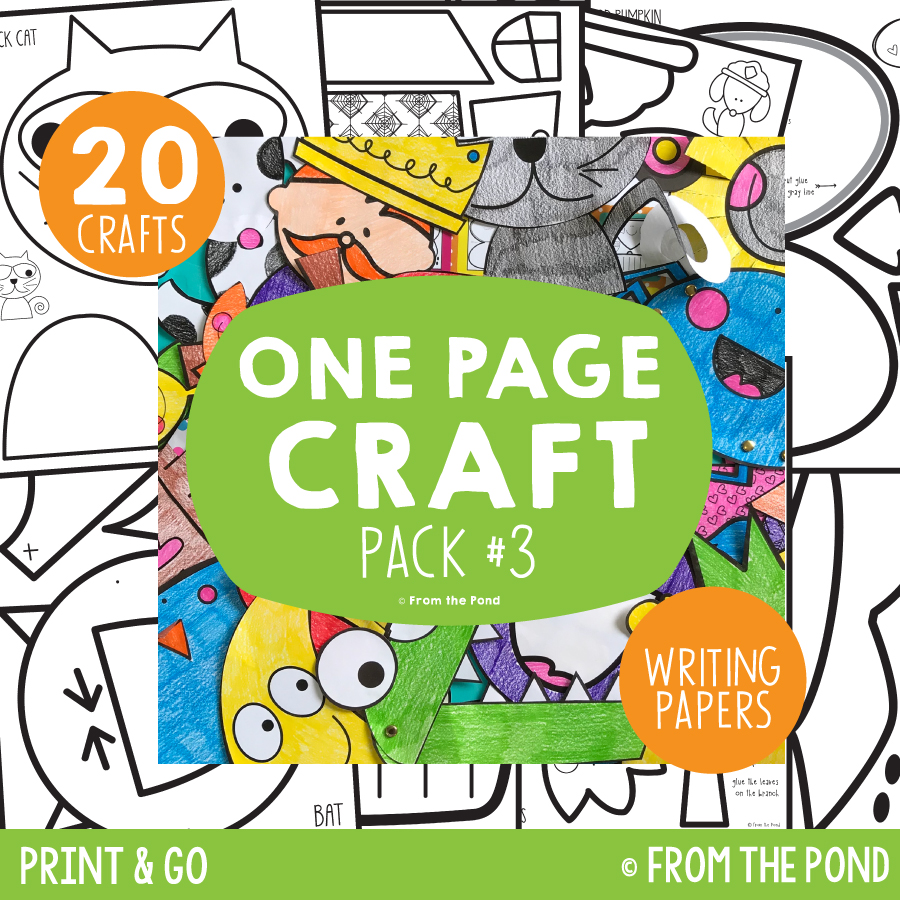 Pack 3 - One Page Crafts