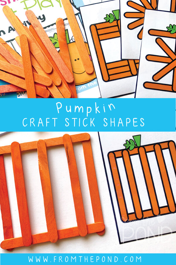 Students will copy the shape design on each card using craft sticks!