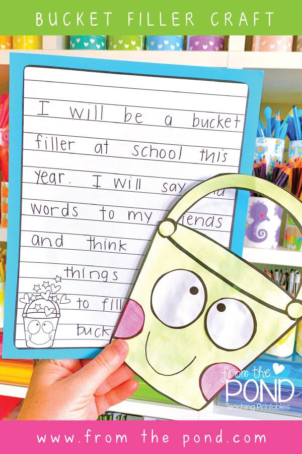 Bucket Filling writing activities