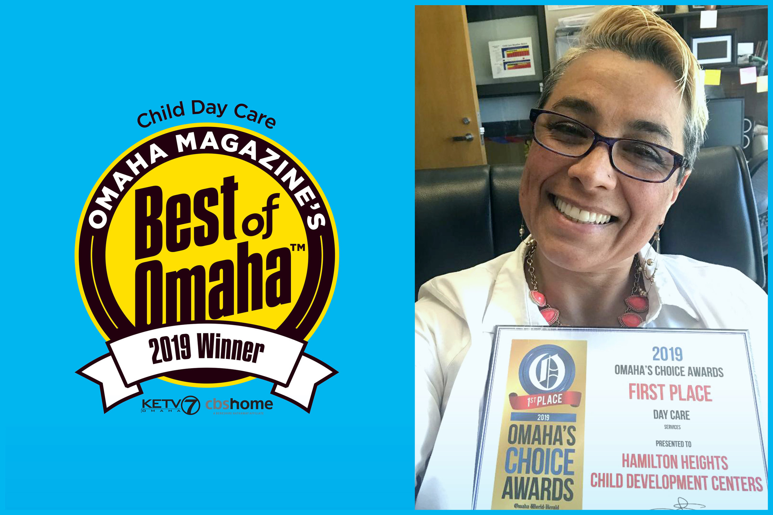 Best of Omaha 2019 - Hamilton Heights Child Development Centers have been voted Best of Omaha in the daycare category for six consecutive years. Thank you, Omaha! It is an honor to care for your children.