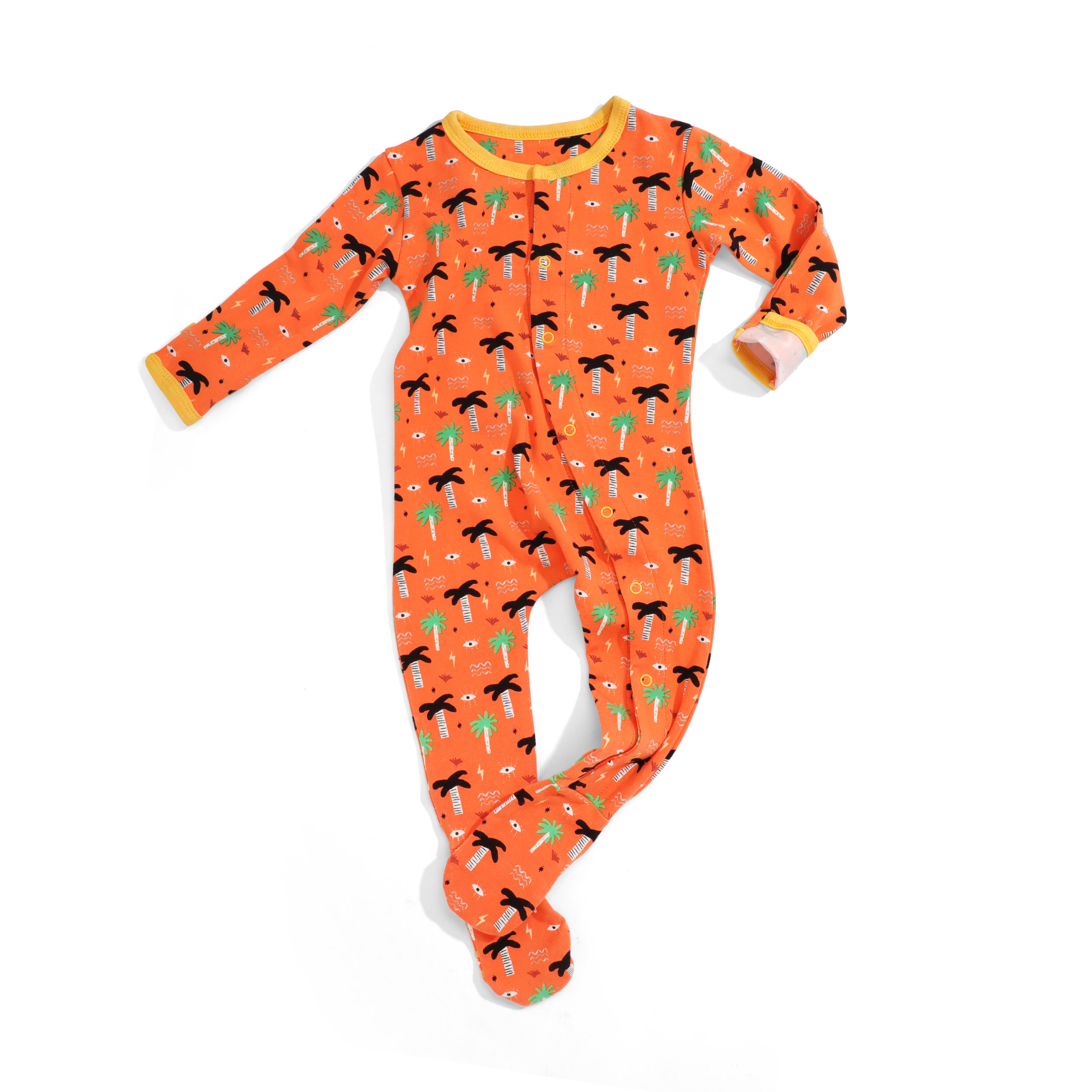 wild sundays organic pajama - orange
