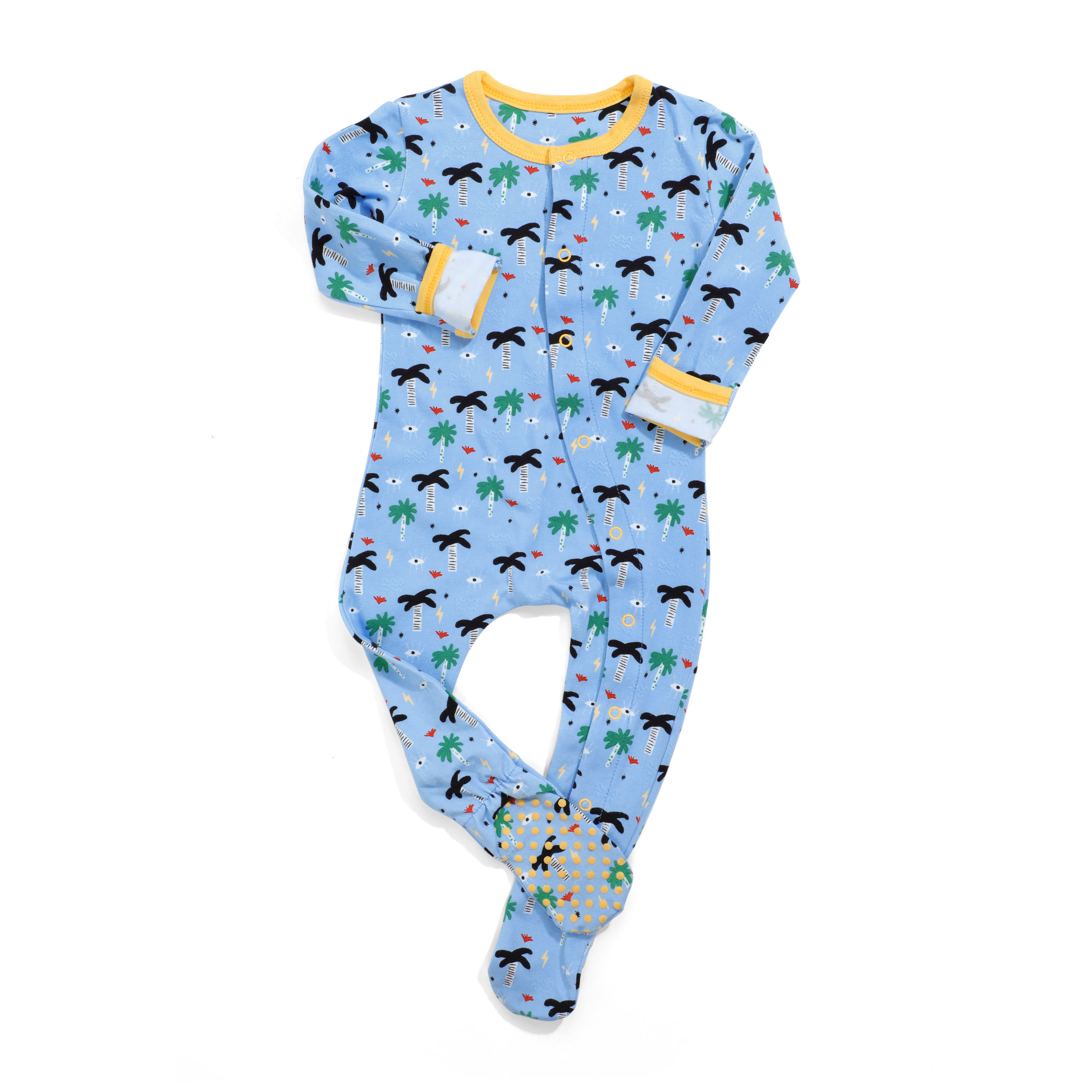 wild sundays organic pajamas - blue