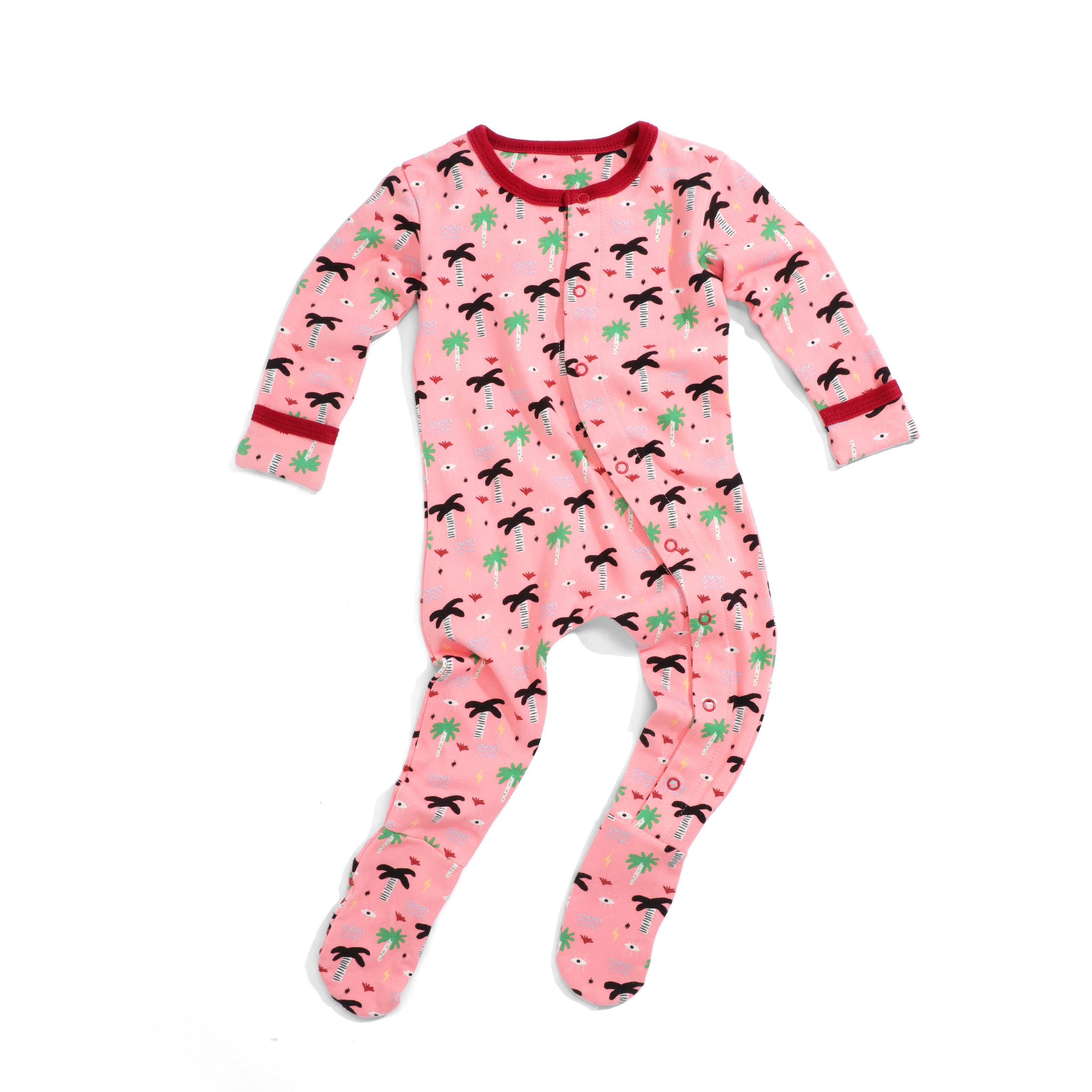 wild sundays organic pajama - pink